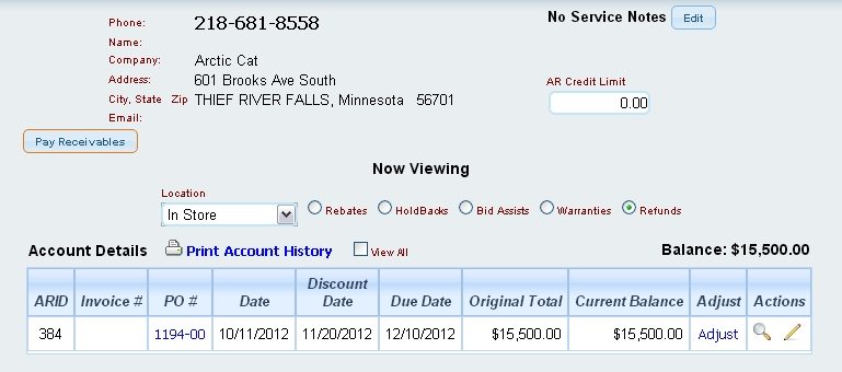 Pay Receivables