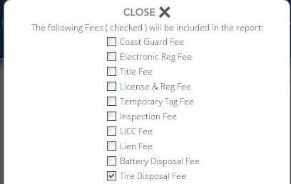 Configure Fees